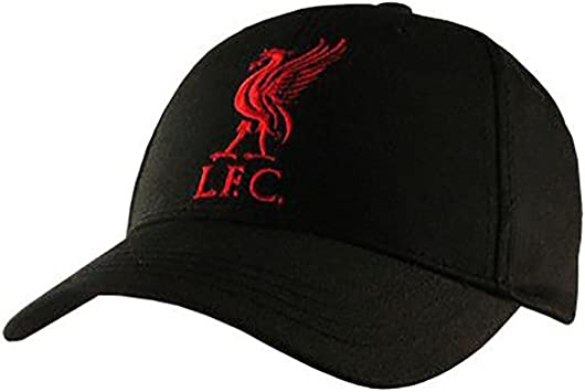Gorras oficiales de los equipos de fútbol, Liverpool (Black): Amazon ...