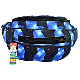 Galaxy Cat Fanny Pack, Boho Chic Handmade w/Hidden Pocket (Space Felines)