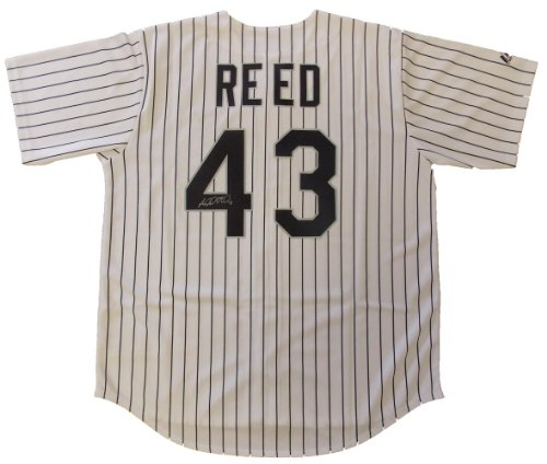 Majestic Addison Reed Autographed Chicago White Sox Jerse...