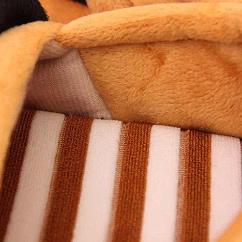 Pantuflas Invierno,Xinan Mujeres Lindas Oso Zapatillas Calientes Inicio marrón