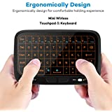 EVANPO E3+ 2.4GHz Mini Wireless Keyboard and Touchpad Mouse Combos with Backlit, Rechargeable Remote Control for Android TV Box, Kodi,HTPC, IPTV, PC, PS3 ,Xbox 360, Raspberry Pi 3, NVIDIA SHIELD TV