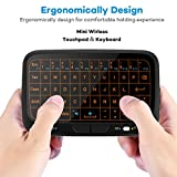 pc remote keyboard - EVANPO E3+ 2.4GHz Mini Wireless Keyboard and Touchpad Mouse Combos with Backlit, Rechargeable Remote Control for Android TV Box, HTPC, IPTV, PC, PS3 ,Xbox 360, Raspberry Pi 3, NVIDIA SHIELD TV