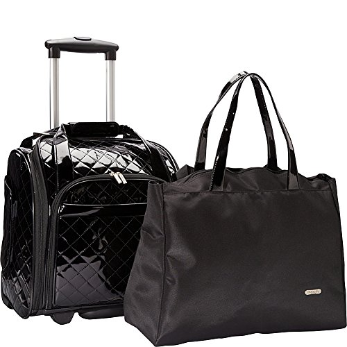 Quilted Patent Bag (Travelon Wheeled Under Seat Anti-Theft Carry-On with Back-Up Bag - Black)