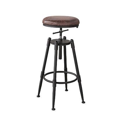 Genial WENBO HOME  Simple, Iron, Artificial Leather Cushion Creative High Chair  European Chair Vintage