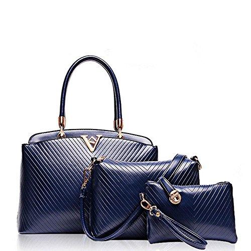 C Diagonal piece Woman Shoulder Three Covered Female Aoligei Baotan Embossed Bag V wTPqFvB
