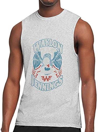 タンクトップ メンズ Waylon Jennings ウェイロン・ジェニングス ノースリーブ Tシャツ 吸汗通気 フィットネス カジュアル インナーベスト スポーツ