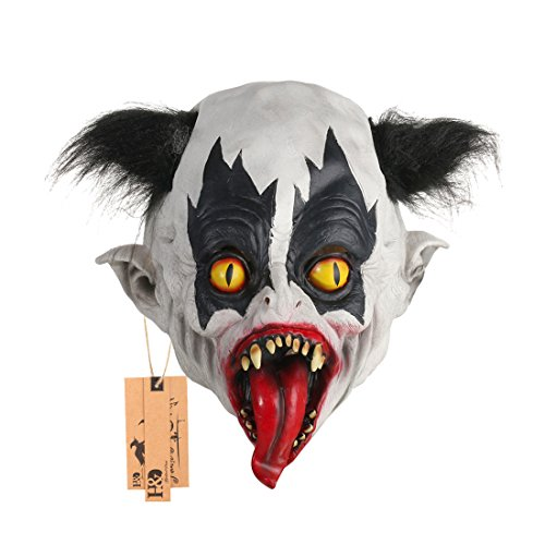 Scary Halloween Animated Mask Evil Variant Zombie Moster Devil Mask with 1 pcs Halloween Party Hanging Props by YUFENG