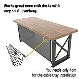 Scandinavian Hub Under Desk Cable Management Tray