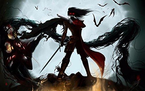 Hellsing Poster - TST INNOPRINT CO Alucard Hellsing Vampire Anime Silk Poster 40x24 Inches