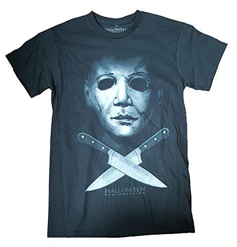 Halloween Resurrection Michael Myers Graphic T-Shirt - Large (Horror Tshirts)
