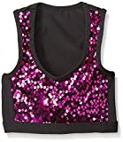 Gia Mia Dance Big Girls Sequin Block Bra Top, Lipstick, Small