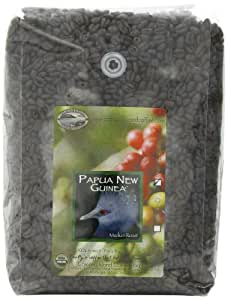 Organic Camano Island Coffee Roasters Papua New Guinea, Medium Roast, Whole Bean, 5-Pound Bag