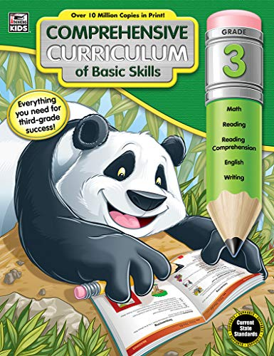 - Comprehensive Curriculum of Basic Skills Workbook for Grade 3, Paperback, 544 Pages, Ages 8-9