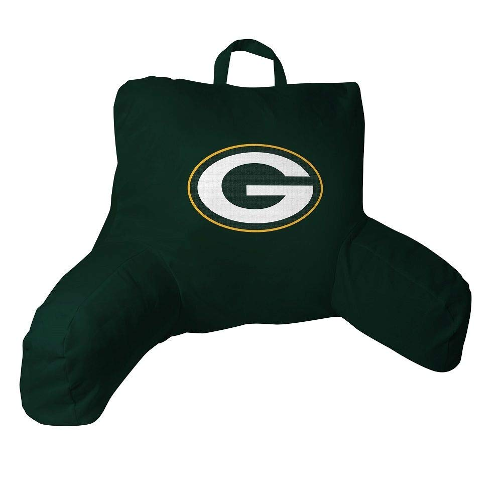 Northwest Green Bay Packers Official NFL 20.5''x 21'' Bed Rest Pillow by The Northwest Company