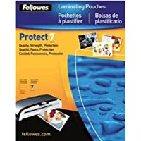 FELLOWES 52041 / Glossy Pouches - Letter, 7 mil, 100 pack