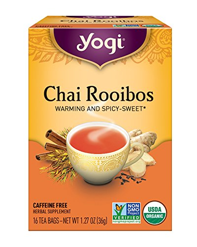 Yogi Tea, Chai Rooibos, 16 Count (Pack of 6), Packaging May Vary - Yogi Caffeine Free Tea