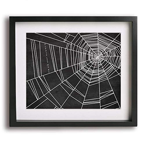 Spiderwebs | No Doubt inspired song lyric art print and modern Halloween decor -