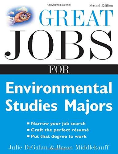 Great Jobs for Environmental Studies Majors (Great Jobs Series)