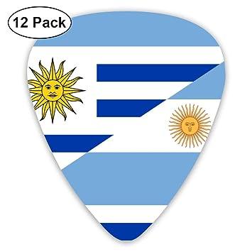 WOODRAIN - Púas de Guitarra con Bandera de la Argentina y el Uruguay 351 en Forma