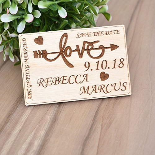 Wood Wedding SAVE the DATE MAGNETS // Save the Date Cards - Rustic Save the Date - Personalized Save The Date - Wood Wedding Invites