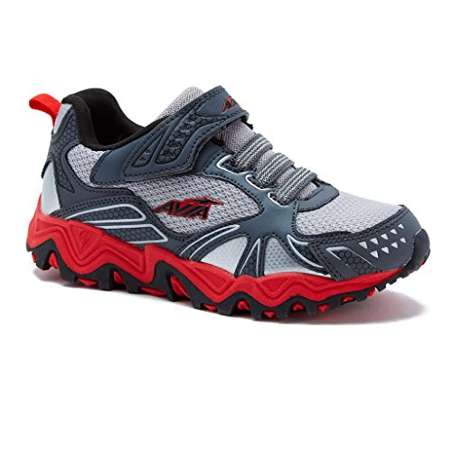 AVIA Kids Avi-Tank Running Shoe 5 Grey/Red Avi Trail Running Shoe