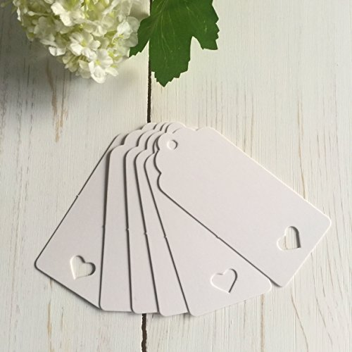 ANGEL & DOVE 25 White Heart Card Balloon Message Tags - by Angel and Dove