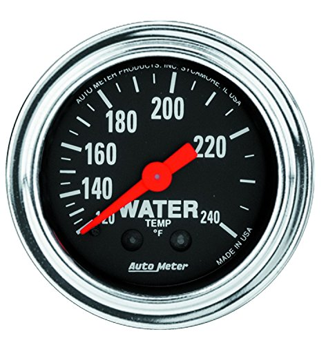 Auto Meter 2433 Traditional Chrome Mechanical Water Temperature ()