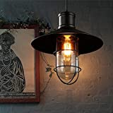 Oliwia Lighting Chandelier Loft Retro Industrial SmIron Cocktail Bar Restaurant Restaurant Bar Cafe Bearing Chandelier Bird Cage