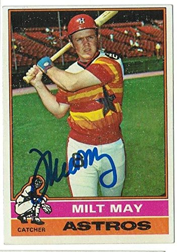 Milt May Houston Astros Autographed 1976 Topps Card Autographed - Baseball Slabbed Autographed Cards ()