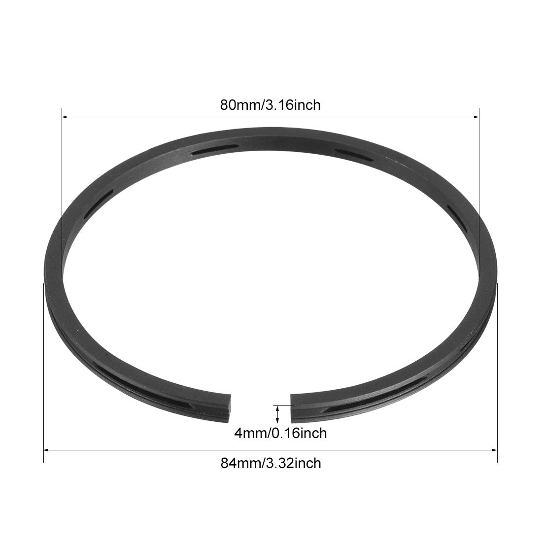 Sourcing map Lot de 3 anneaux de piston pour compresseur dair 51 mm de diam/ètre