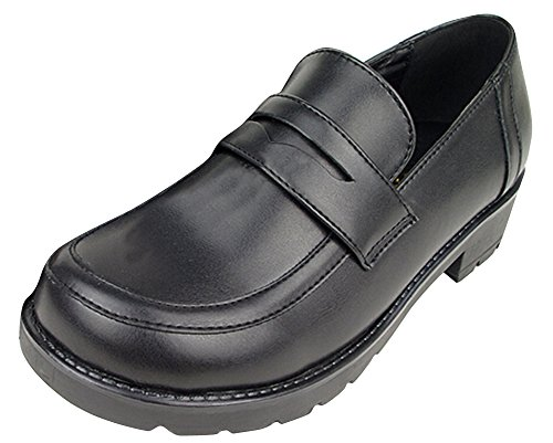 Ace Women's Girl's Lolita Low Top Japanese Students Maid Uniform Dress Shoes (5.5, Black) ()