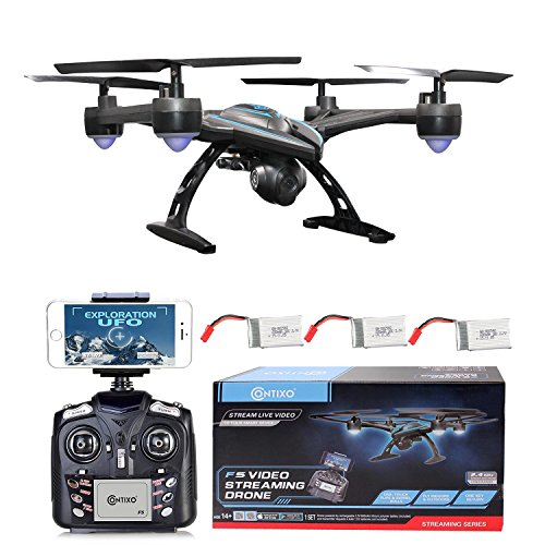 HOLIDAY SPECIAL! Contixo F5 WiFi FPV Quadcopter Drone w/ HD Camera, Live Video For Aerial Photography, Altitude Hold, Auto Return, Easy to Fly for Expert Pilots & Beginners Best Gift for Christmas by Contixo