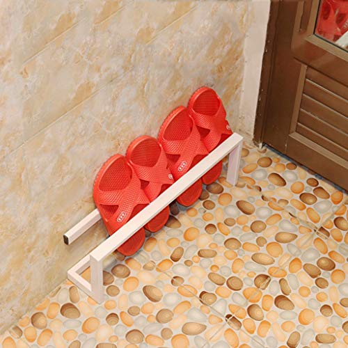 DNSJB shoe rack, Simple and Modern Small Shoe Rack, Simple Multi-Layer Household Economy Bathroom Mini Slippers Rack (Color : White, Size : 58x9x15CM)