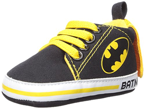 DC Comics Baby Boys Justice League Character Infant Shoes, Batman Sneakers w/Cape, 3-6 - Sneakers Justice League