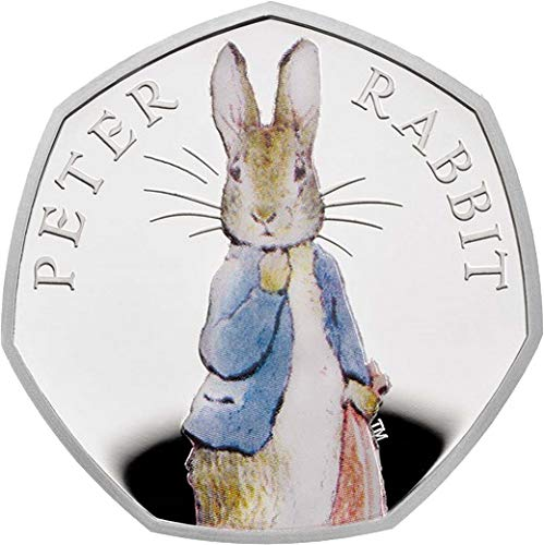 2019 GB Modern Commemorative PowerCoin PETER RABBIT Beatrix Potter Silver Coin 50 Pence United Kingdom 2019 Proof