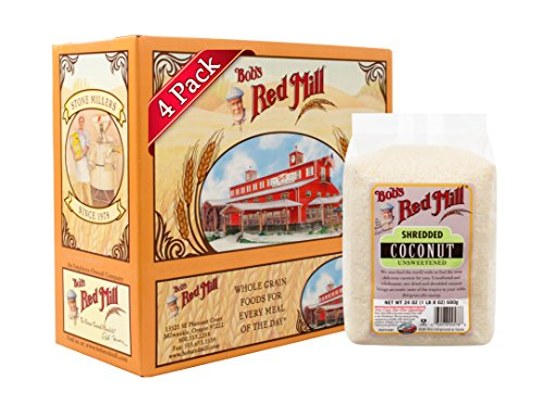 - Bob's Red Mill Shredded Coconut (Unsweetened), 24-ounce (Pack of 4)