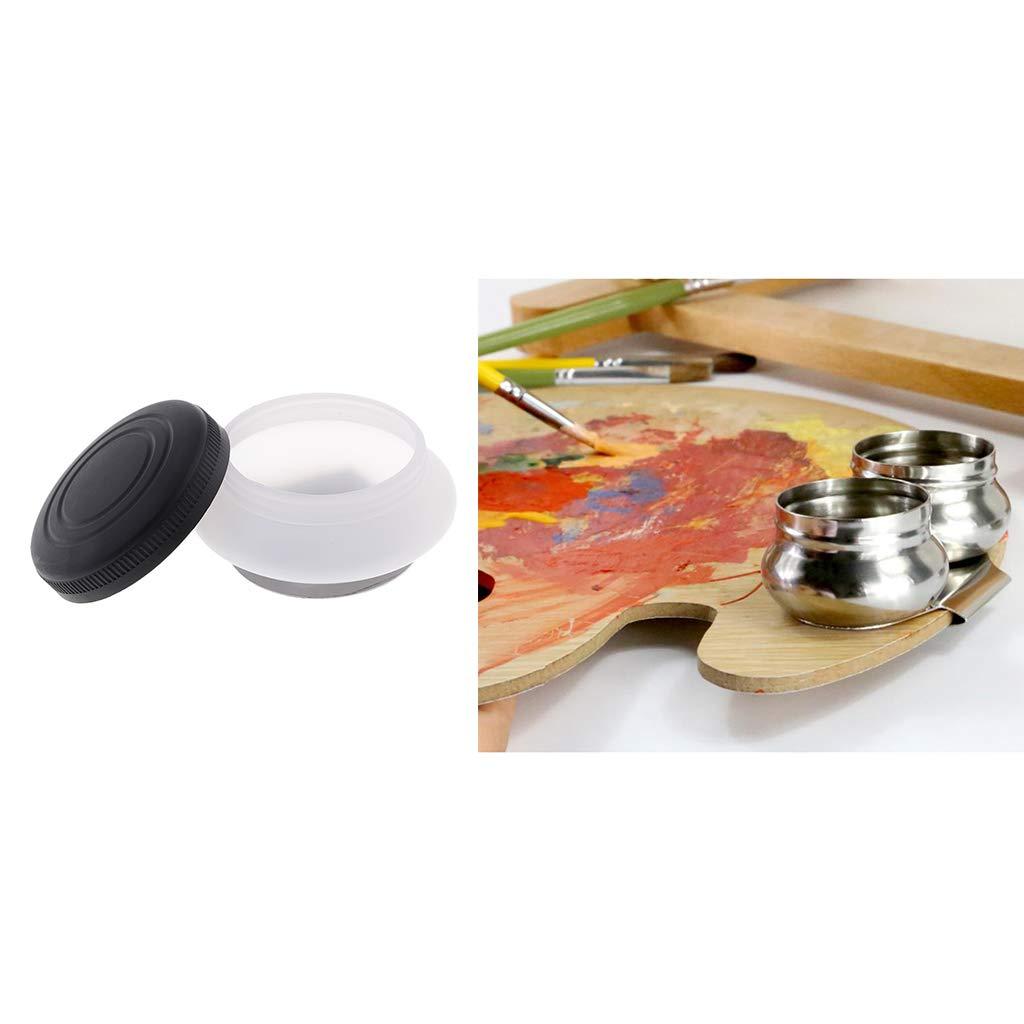 Baoblaze Clips de Paleta de Cazo de Doble Orificio para Artistas y para Pintar con Tapas