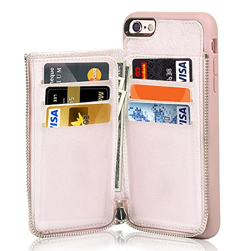 meet bcbc9 bff1b Details about iPhone 6S Plus Wallet Case, iPhone 6 Plus Card Holder Case,  LAMEEKU Leather C...