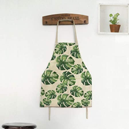 Tablier Pour Femmes Original Vert Feuilles Femmes Cuisine Tablier