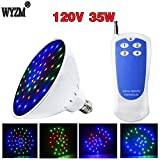 WYZM 120V 35W Color Changing LED Pool Light Bulb,with Remote Controll and switch controll, fit in for Pentair and Hayward Pool Light Fixture