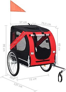vidaXL Remolque Bicicleta Perros Impermeable Plegable Capa Lluvia ...