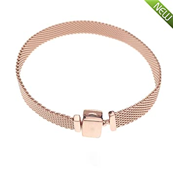 1e48220b0 PANDOCCI 2018 Autumn Rose Gold Reflexions Women 925 Silver Bracelets DIY  Fits for Original Pandora Bracelets Charm Fashion Jewelry (16CM):  Amazon.co.uk: ...