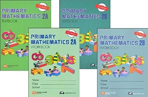 Singapore Primary Mathematics Level 2 Kit (US Edition), Workbooks 2A and 2B, and Textbooks 2A and ()