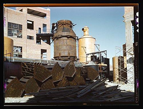 1939 Photo Southland Paper Co., Kraft pulp mill under construction, Lufkin, Texas Location: Lufkin, Texas