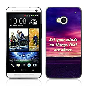 YOYO Slim PC / Aluminium Case Cover Armor Shell Portection //COLOSSIANS 3:2 SET YOUR MINDS ON THINGS THAT ARE ABOVE //HTC One M7