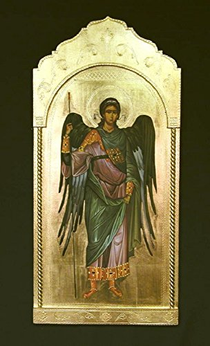 Archangel Michael Florentine plaque, 21 x 45 inches. Made in Italy. by GSV001