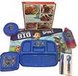 Kid Toddler Mealtime Lunch Kit Feeding Set, Cafeteria style Section Lunch Tray, Bowl