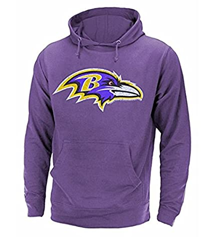4fe7493a Junk Food Baltimore Ravens NFL Men's Primary Logo Pullover French Terry  Hoodie, Purple Heather