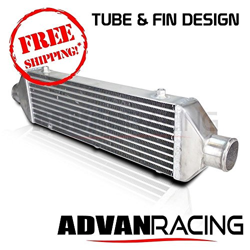Turbo Intercooler (Universal Turbo / Supercharge Intercooler Aluminum Tube And Fin Design - 28x6x2 in. 2.5 in & out)