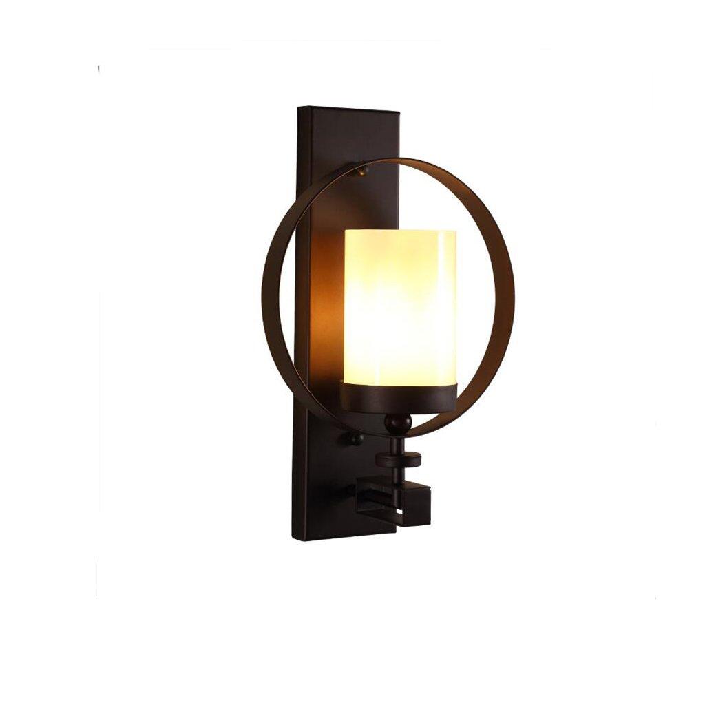 DYFYMX Wandlampen schmiedeeiserne Weinlese-Wohnzimmer-Hintergrundwand dekorative Lichter Balkonganglichter - Wandleuchte für Home Office